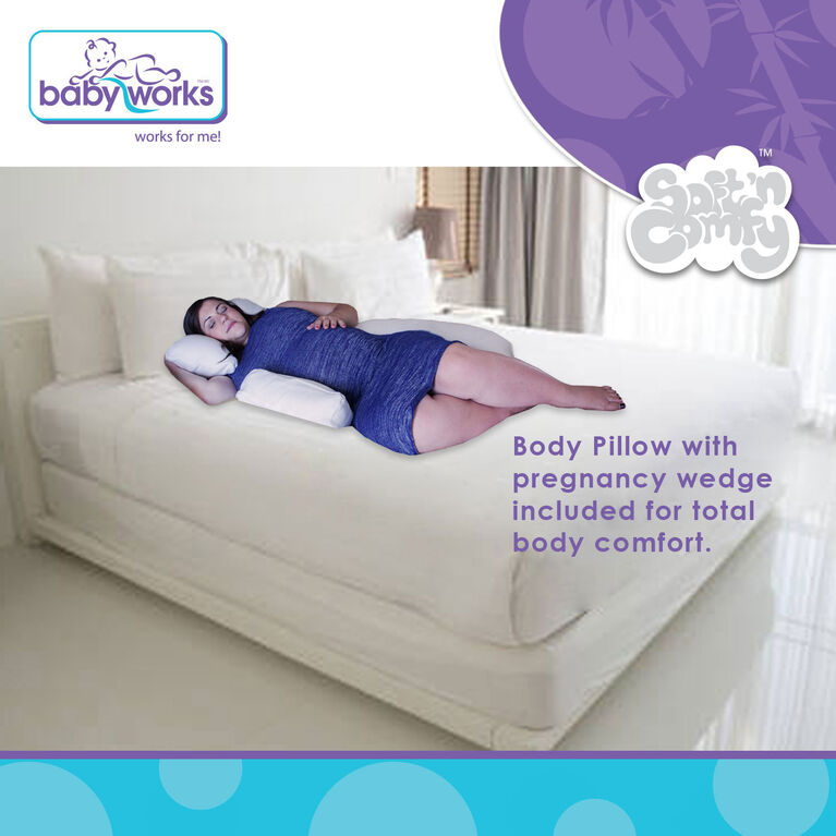 Baby Works Dream On Maternity Pillow With Pregnancy Wedge