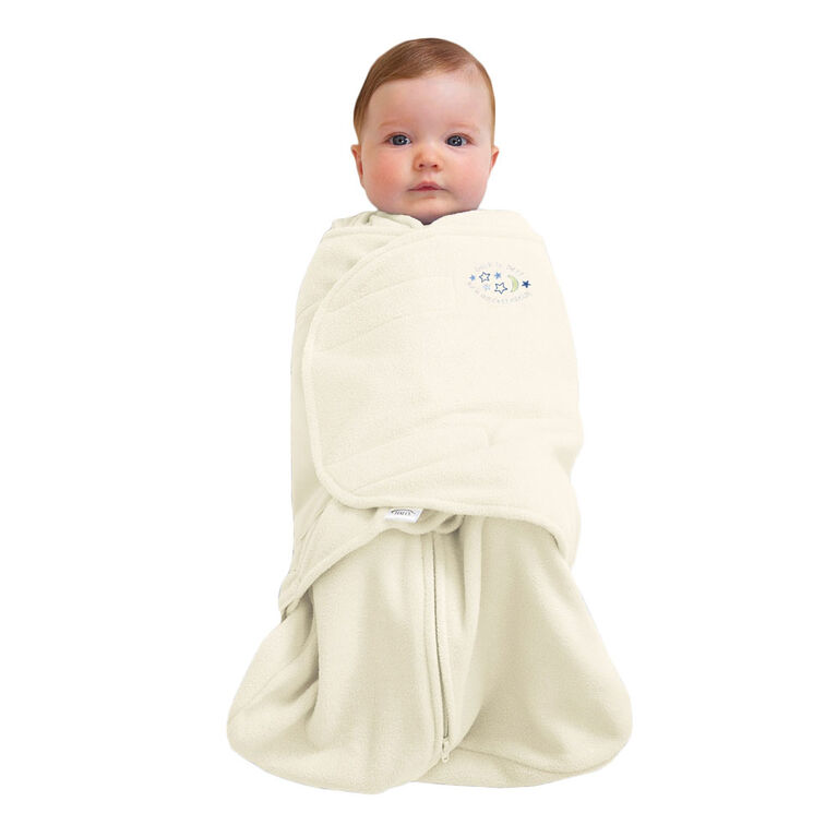 HALO SleepSack Swaddle Micro-Fleece - Cream - Small