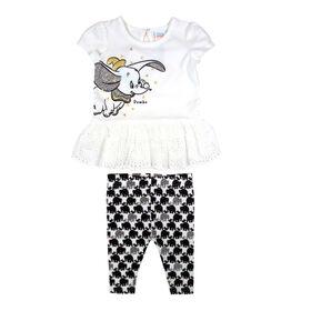 Disney Dumbo ensemble legging 2 morceaux - Blanc, 12 mois