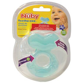 Nûby Teethe-eez Soft Silicone Fish Teether - Blue