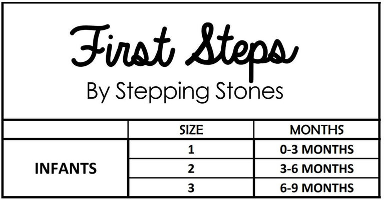 First Steps Pastel Rainbow Coated Girls Slippers Size 1, 0-3 months