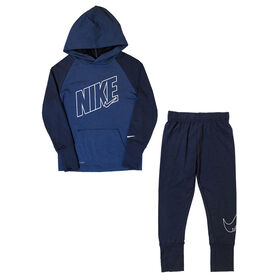Nike DRI-FIT Hoodie and Pants Set - Blue, Size 7