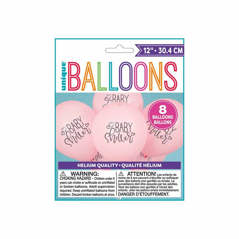 """8 Balloons 12 Po - """"Baby Shower"""" - Édition anglaise"""