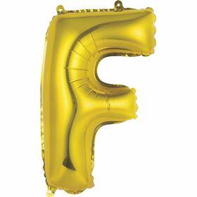"""Ballons en forme de lettre or 14 """" - F"""