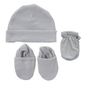 Koala Baby 3-Pack Set - Hat, Mittens, Booties - Grey