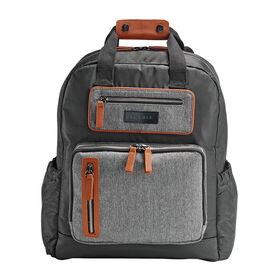 JJ Cole Papago Pack Backpack Diaper Bag - Camel Herringbone