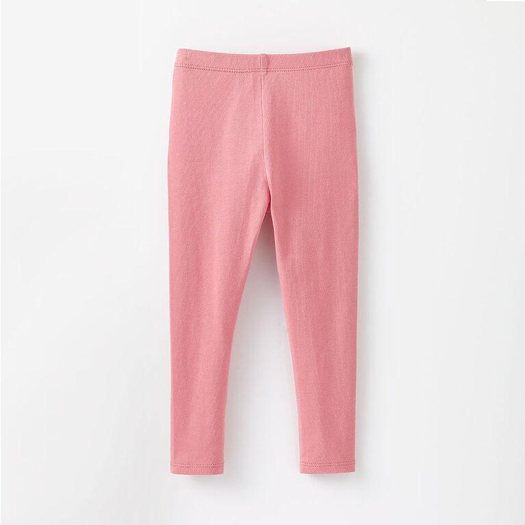 organic play legging, 18-24m - rose