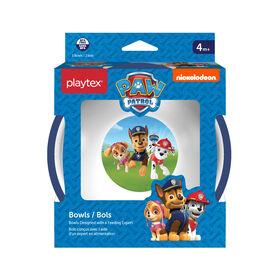 Emballage de 3 bols Paw Patrol de Playtex ? bleus