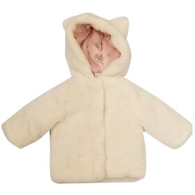 Baby Girl Marie Faux Fur Jacket with Hood 24 Months