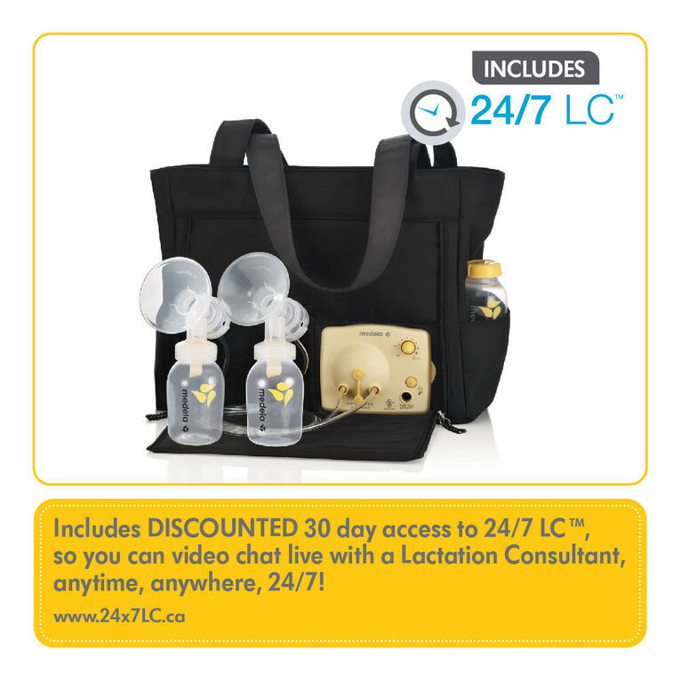Medela Pump in Style Breastpump Slouch bag- with BPA-Free Bottles 223905