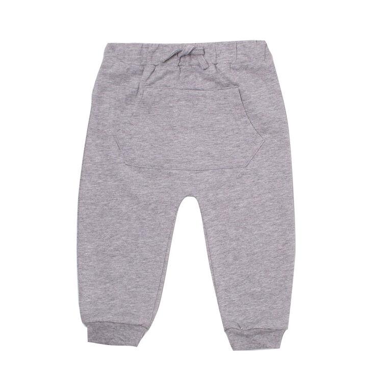 Koala Baby pantalon garçon  gris coton  ouaté et éponge avec poches et cordon de serrage 18-24 mois