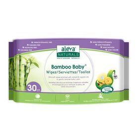 Aleva Naturals Bamboo Wipes, 30 Count