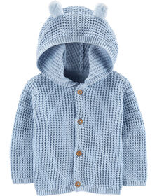 Carter's Hooded Cardigan - Blue, 6 Months