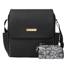 Petunia Pickle Bottom - Boxy Backpack - Black Leatherette