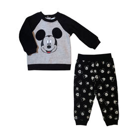 Disney Mickey Mouse Fleece pant set - Black, 6 Months