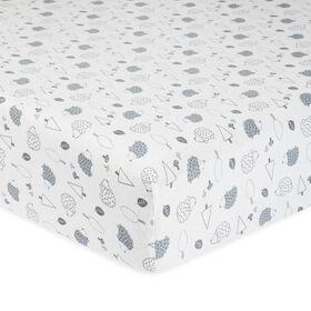 Gerber Organic Fitted Crib Sheet, Hedgehog
