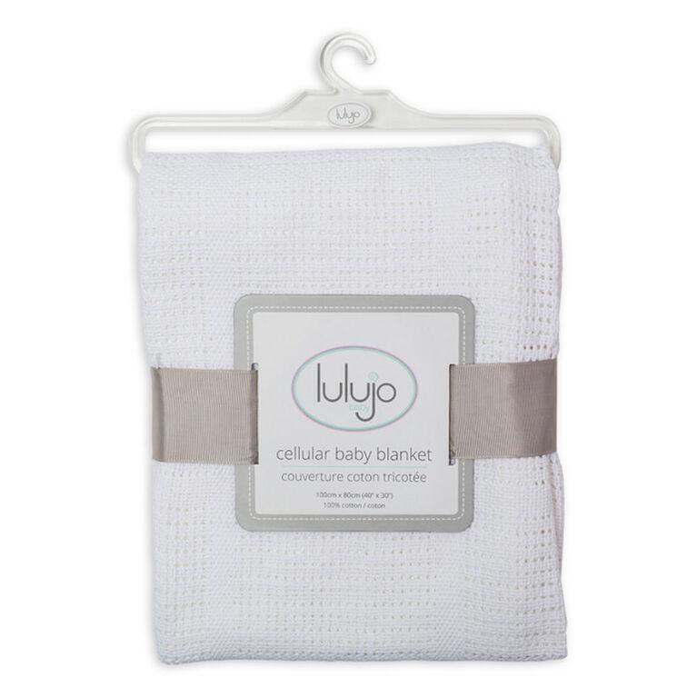 Couverture en cellular Lulujo - Blanc.
