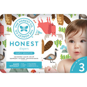 Honest Diapers Size 3-Ca National Print