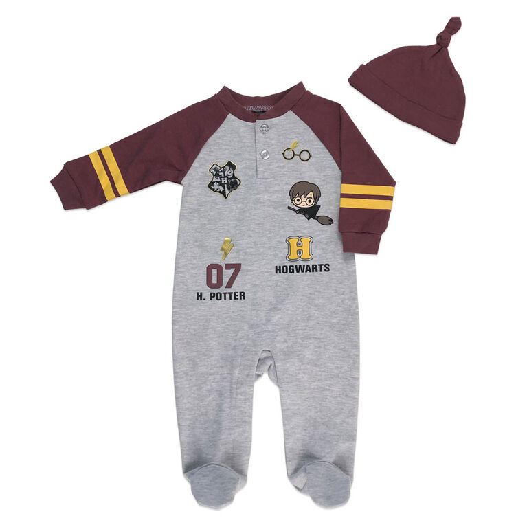 Harry Potter Sleeper with hat - Grey, 6 Months.