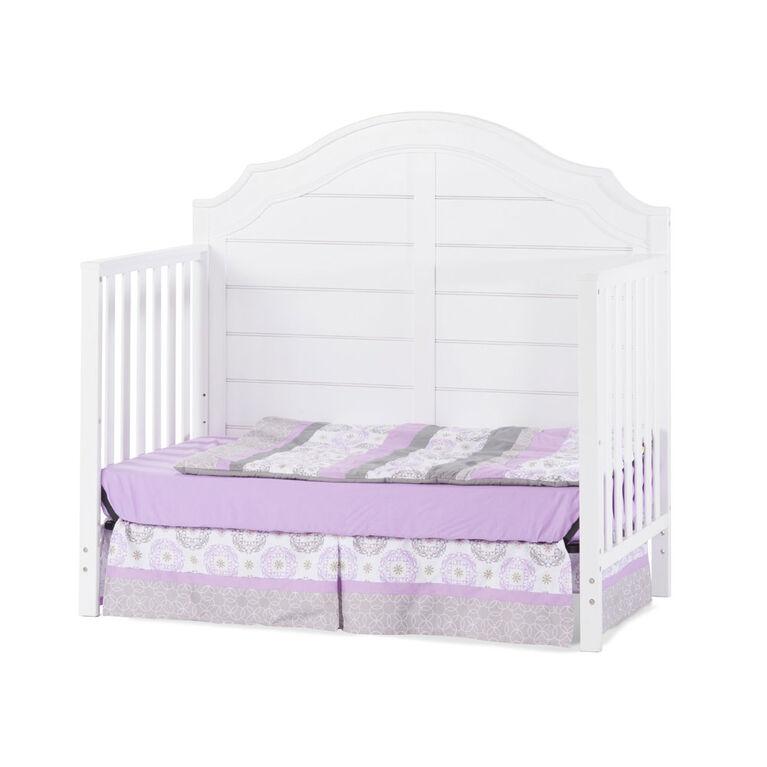 Lit de bébé transformable 4 en 1 Penelope Child Craft Mat Blanc.
