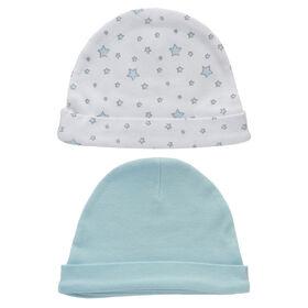 Koala Baby Esemble 2 bonnets - Etoiles Blue.