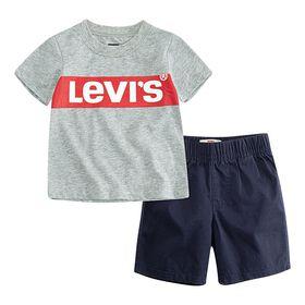 Levis Short Set - Grey, 24 Months
