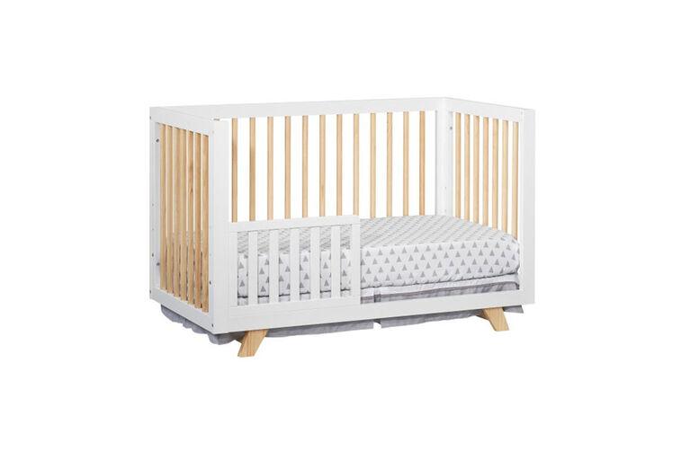 Barrière de sécurité Oxford Baby Visby pour tout-petits de couleur blanc / naturel - Notre exclusivité