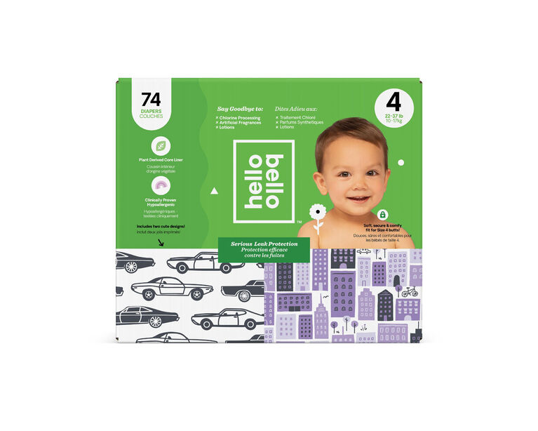 Hello Bello - Club Diaper Cars/City - Size 4