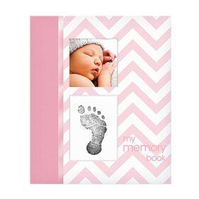 Pearhead Memory Book - Chevron Pink