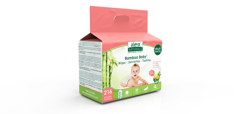 Aleva Naturals Bamboo Wipes Sensitive - 216 Count