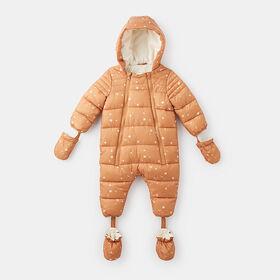 stay warm snowsuit , size 18-24m - White