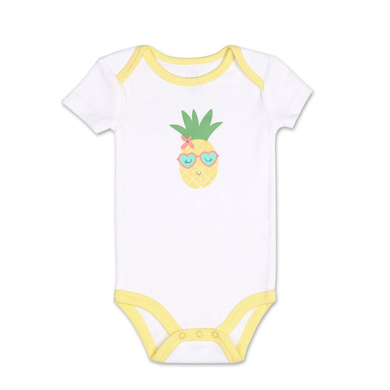 Koala Baby 4Pk Short Sleeved Bodysuit, G Pineapple, 18 Months
