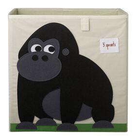 3 Sprouts Storage Box Gorilla - Black
