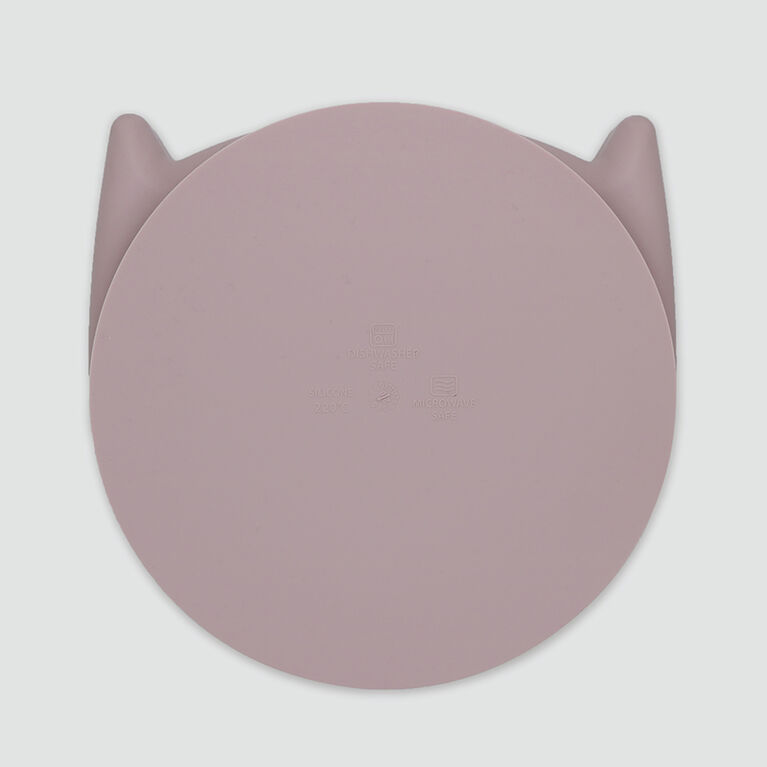 Silikitty Mess-free silicone plate Rose