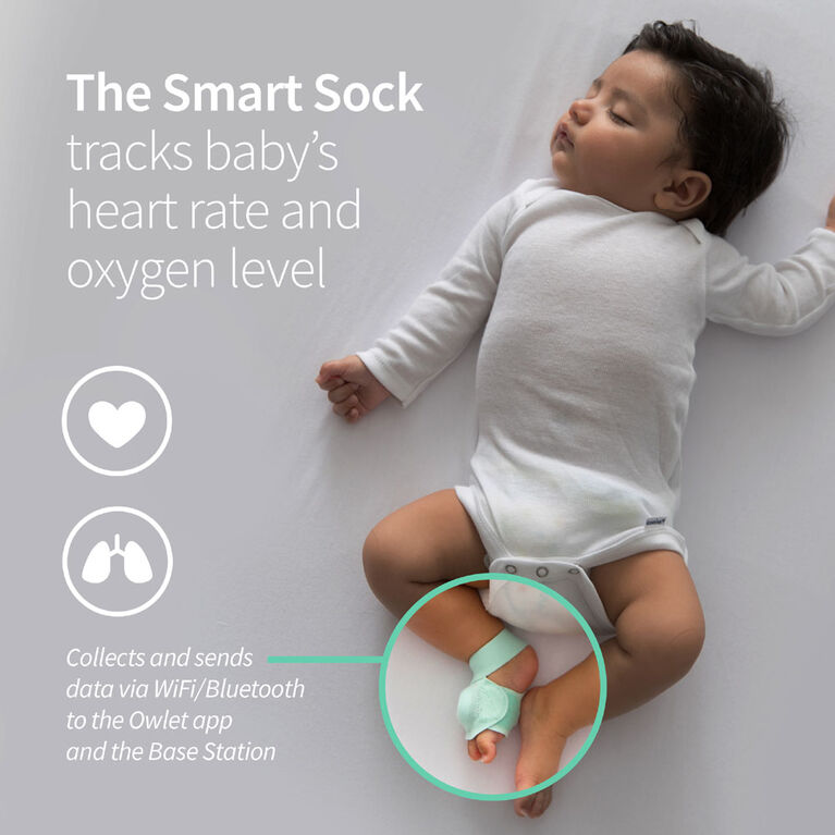 Owlet Smart Sock 2 - Moniteur de bébé.
