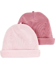 Carter's 2-Pack Caps Pink - 0-3 Months