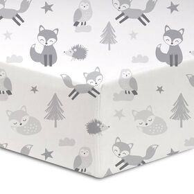 Koala Baby 100% Cotton Flannel Fitted Crib Sheet