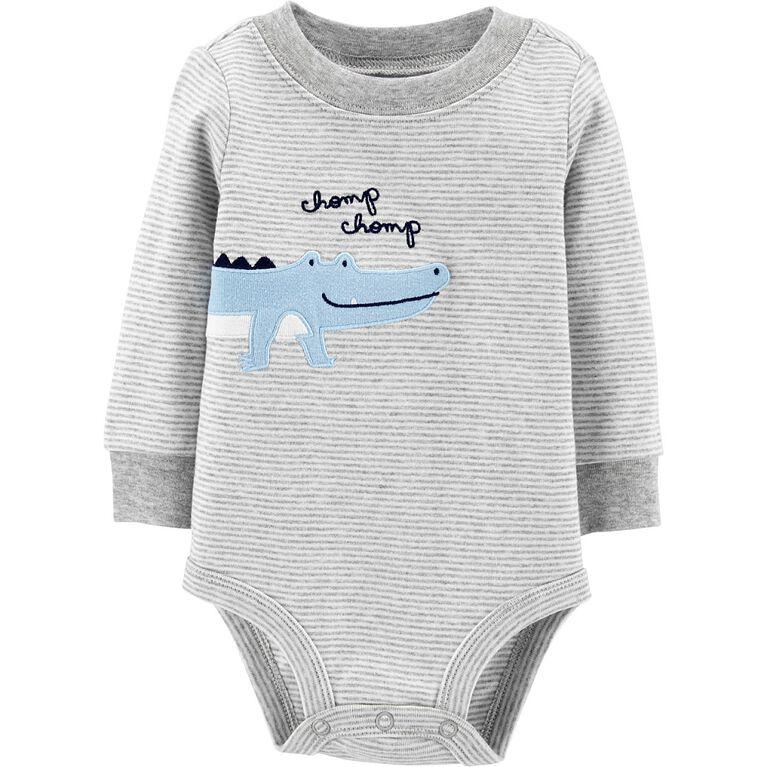 Carter's Alligator Collectible Bodysuit - Grey, 12 Months