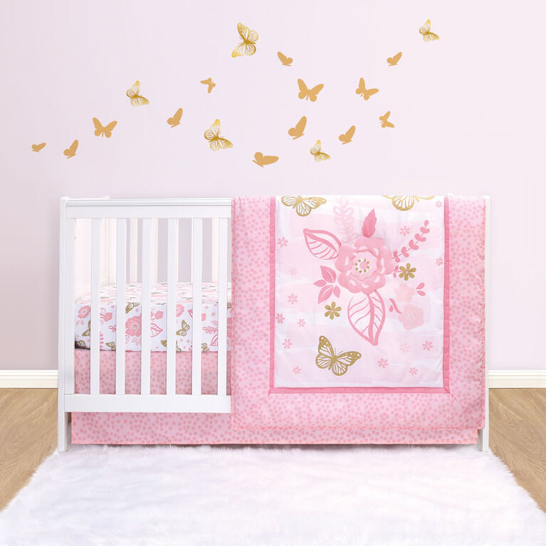 Belle Butterfly Dreams 3-Piece Crib Bedding Set - R Exclusive