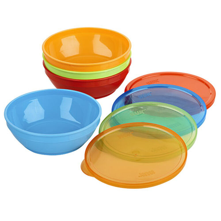 First Essentials by NUK™ Bunch-a-Bowls, Assorted Colours, 4-Pack