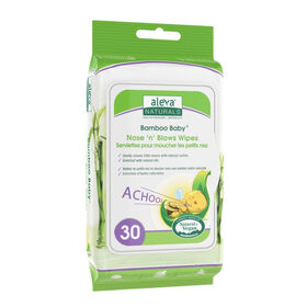 Aleva Naturals Bamboo Baby Nose n Blows Wipes 30ct