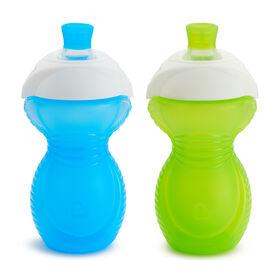 Munchkin – Tasse anti-gouttes Bite Proof, paquet de 2 - vert/bleu.