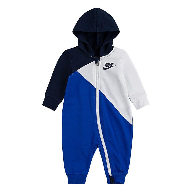 Nike Coverall - Blue, 0-3 newborn