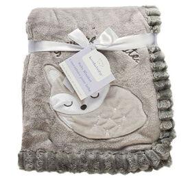 Koala Baby Couverture côtelée gris   renard.