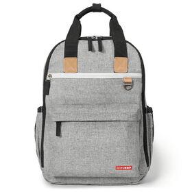 Skip Hop Duo Diaper Backpack - Grey Melange