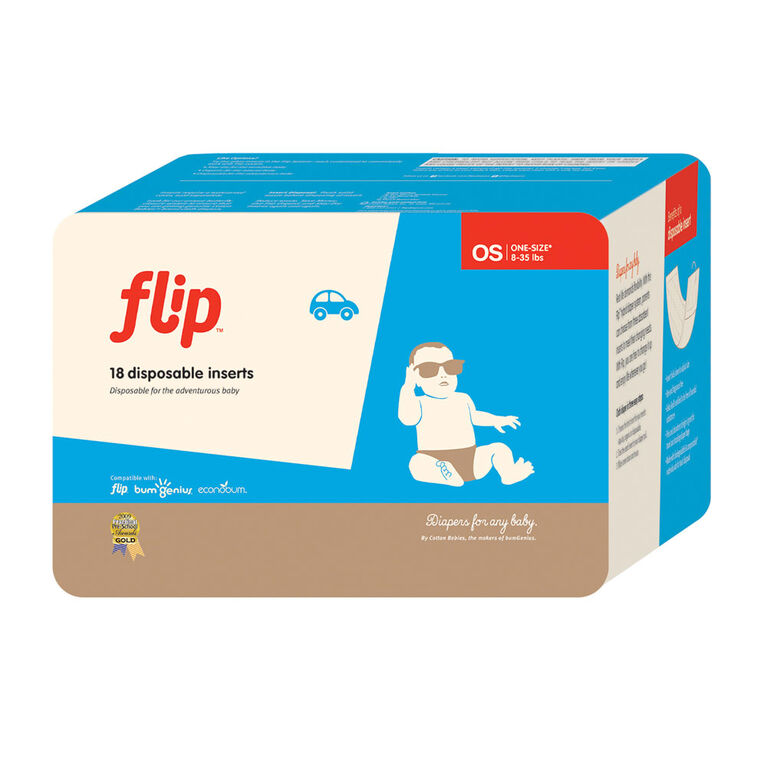 bumGenius Flip™ Dispoable Inserts (contains 18 Inserts)