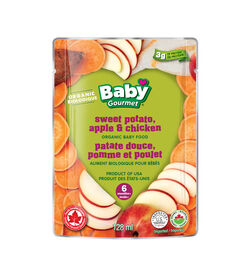 Baby Gourmet Purees Simples Patate douce, pomme et poulet.