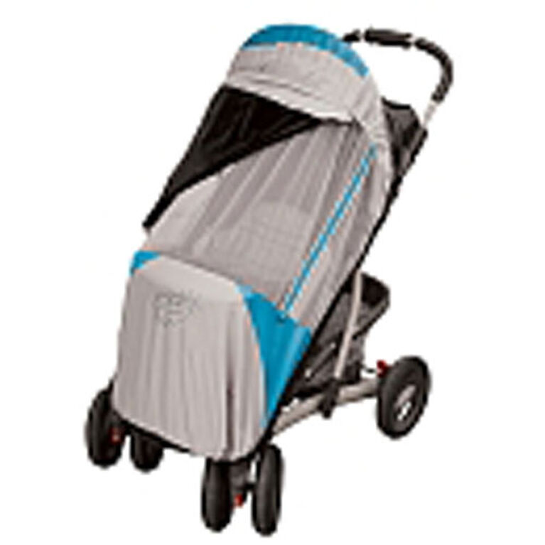 Petit Coulou 3 Seasons (4 in 1) Stroller Cover - Blue/Grey