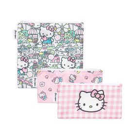 Sacs à sandwich / sacs à collation Bumkins Hello Kitty, sans BPA, lot de 3