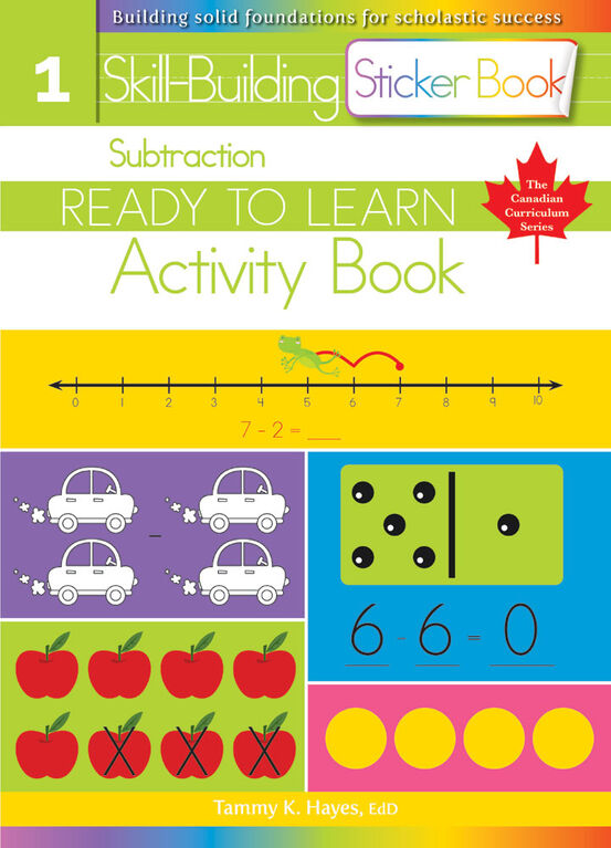 Subtraction Sticker Book - English Edition